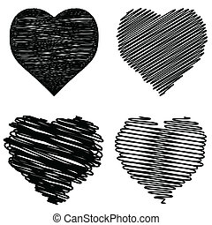 corações, set.