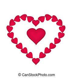 corações,  valentines, Dia, vermelho, mães