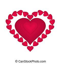 corações,  valentines, Dia, vermelho