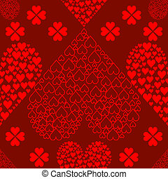 corações, valentines, seamless, fundo