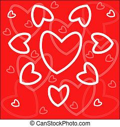 corações, vermelho