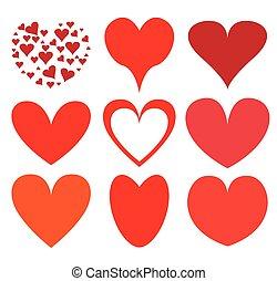 corações, vetorial