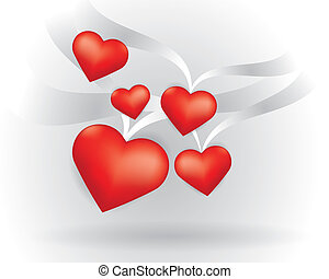 corações, voando