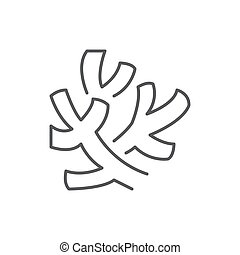 Coral editable line icon - beautiful ocean or aquarium pixel perfect vector illustration isolated on white background.
