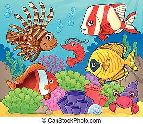 Coral fauna theme image 8