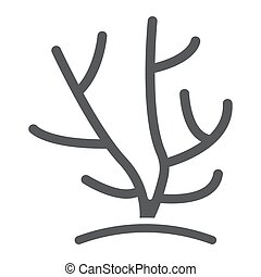 Coral glyph icon, ocean and underwater, tropical sign vector graphics, a solid pattern on a white background, eps 10.