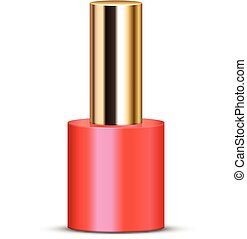 coral nail polish - Vector illustration of coral nail polish