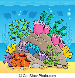 Coral reef theme image 2 - vector illustration.