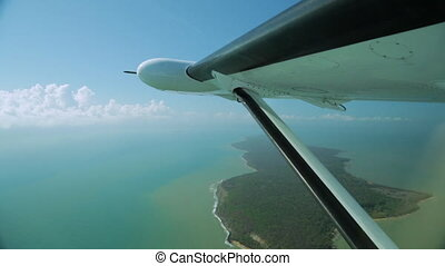 Coral Sea View From A Plane, Great Barrier Reef