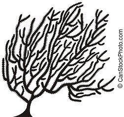coral silhouette isolated on white