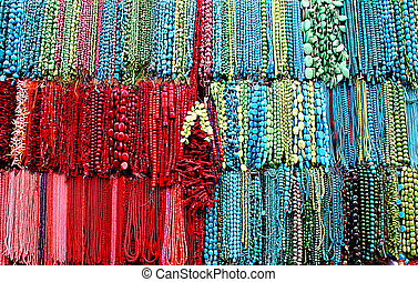 Coral & Turquoise - Market Stall, Dirt Market, Beijing