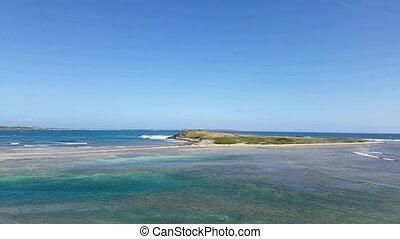 Coralita beach a quiet, deserted beach on French St. Martin....