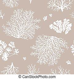 Corals seamless pattern