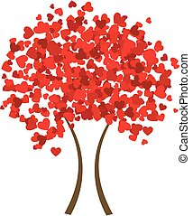 corazón, árbol, valentine
