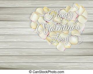 corazón, 10, de madera, eps, flores, mesa.