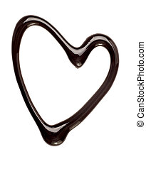 corazón, amor, alimento, dulce, el escaparse, chocolate, ...