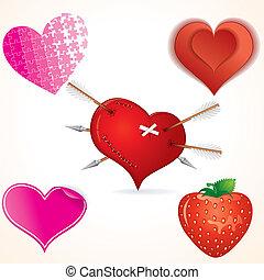 corazón, arte, clip