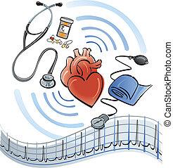 corazón, atención sanitaria