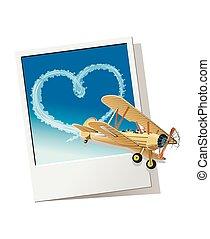 corazón, avión