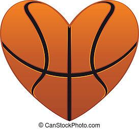 corazón, baloncesto