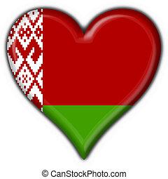 corazón, belorussian, bandera, botón, forma