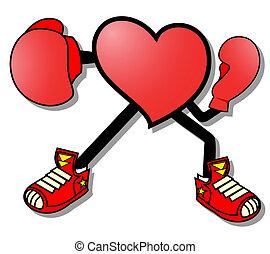 corazón, boxeo