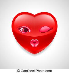 corazón, carácter