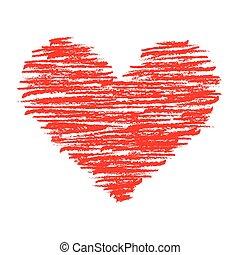 corazón, carboncillo