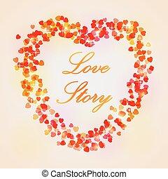 corazón, card., text., día, lugar, boda, su