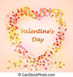 corazón, card., valentines, text., día, lugar, su, feliz