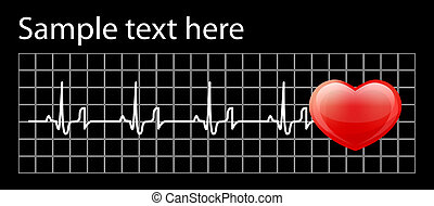corazón, cardiograma