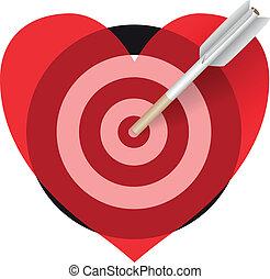 corazón, cigarrillo