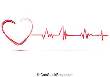 corazón, con, cardiología