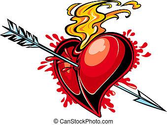 corazón con la flecha