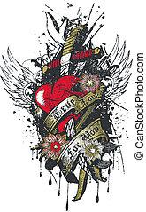corazón, corona, pecado, religión