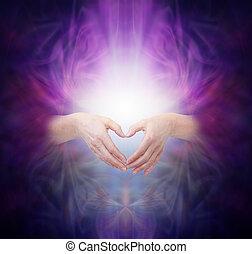 corazón, curación, energía