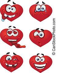 corazón, día, valentineçs, sonrisas