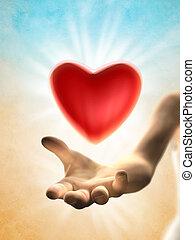 corazón, dar