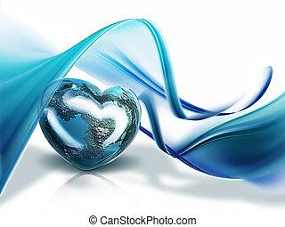 corazón, de, el mundo