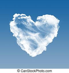 corazón, de, nubes