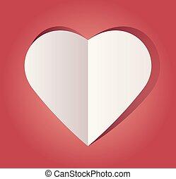 corazón de papel, recortar