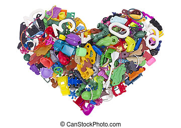 corazón, de, roto, no, nombre, juguetes