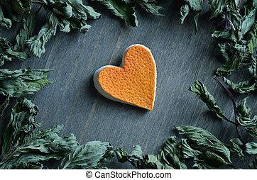 corazón, de, toronja
