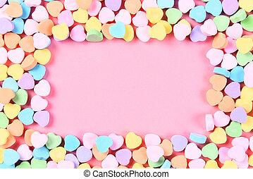 corazón del caramelo, marco