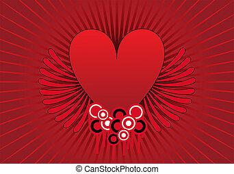 corazón, diseño abstracto