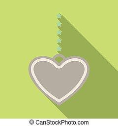 corazón, en una cadena