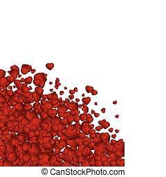 corazón, eps, valentine, plano de fondo, confetti., 8