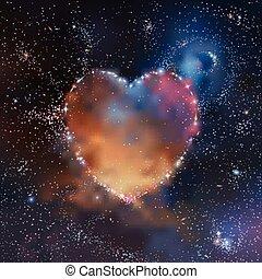 corazón, espacio