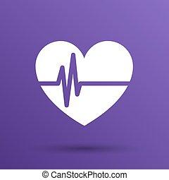 corazón, examen, forma, heartbeat., echocardiography.,...