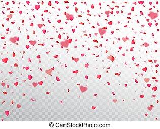 corazón, flor, heart., regalo, color, pétalo, día de...